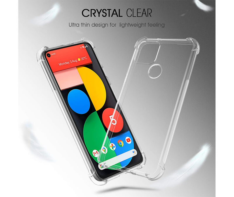 Slim & Protective Transparent TPU with Raised Edges for Google Pixel 5 5G_6