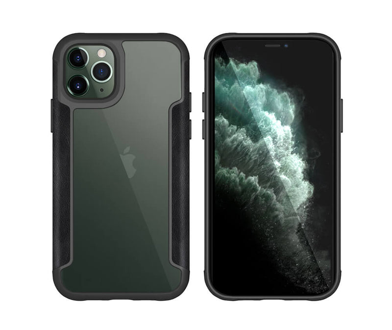 SHOCKPROOF ARMOUR DEFENCE W/LEATHER SIDES for iPhone 11 Pro