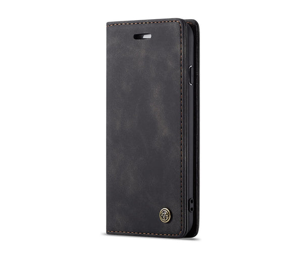 SUEDE LEATHER WALLET CASE for iPhone 6 Plus & 6S Plus#Colour_Black