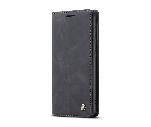 SLIM SUEDE LEATHER WALLET CASE for Galaxy S20#Colour_Black