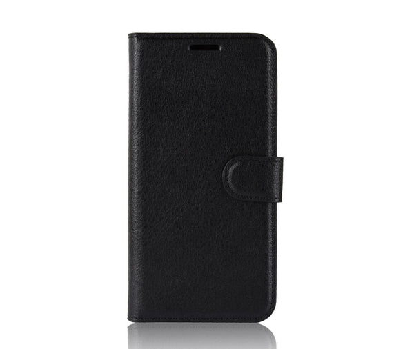 LITCHI LEATHER WALLET CASE for Galaxy Note 10#Colour_Black