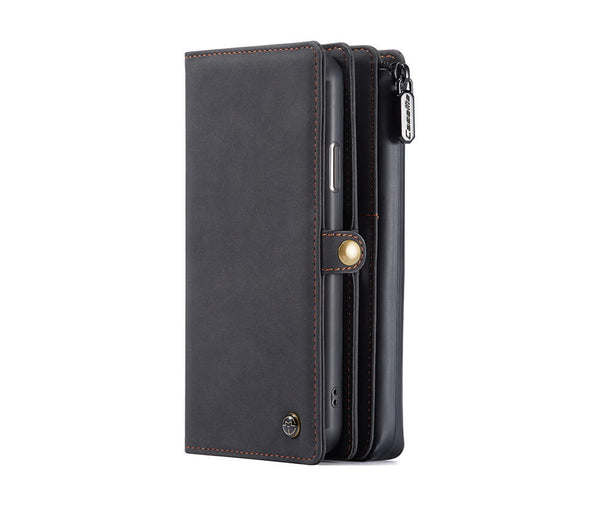 DETACHABLE MULTI FUNCTIONAL RETRO LEATHER WALLET for iPhone 11 Pro Max#Colour_Black