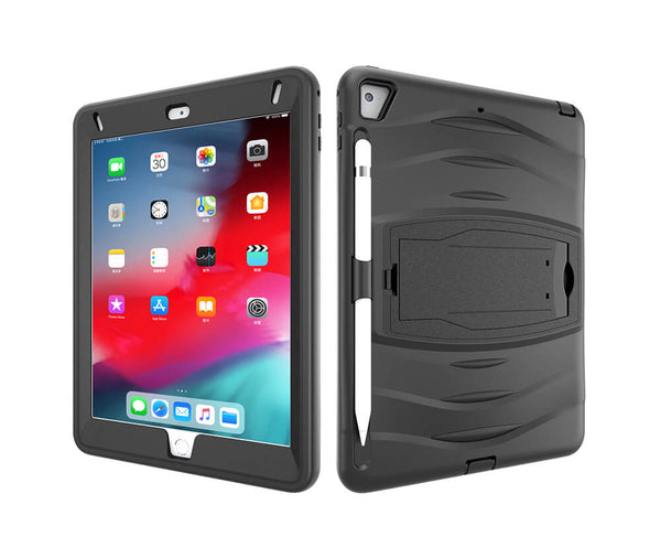 HEAVY DUTY RUGGED PROTECTION CASE for iPad 9.7 2017 & iPad 9.7 2018#Colour_Black