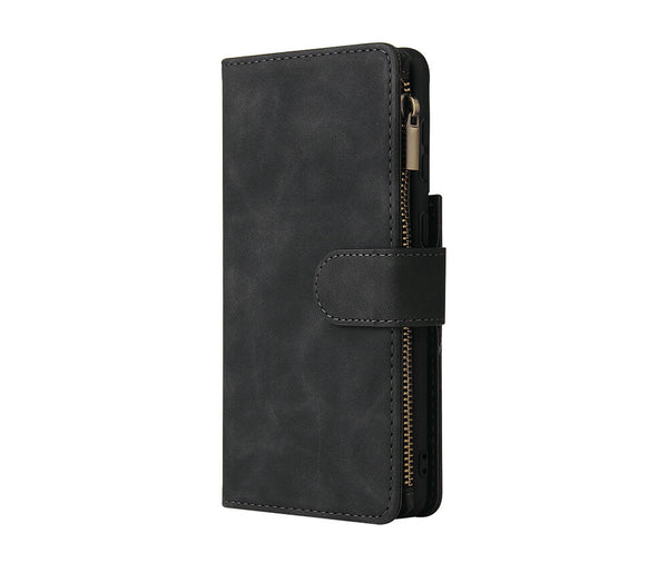 Slim & Protective Multi-Card Leather Wallet Case#Colour_Black