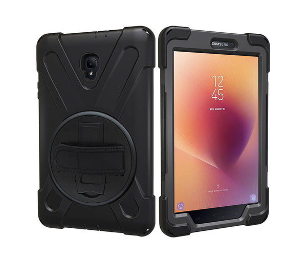 HEAVY DUTY RUGGED PROTECTION CASE for Galaxy Tab A 8.0 2017#Colour_Black