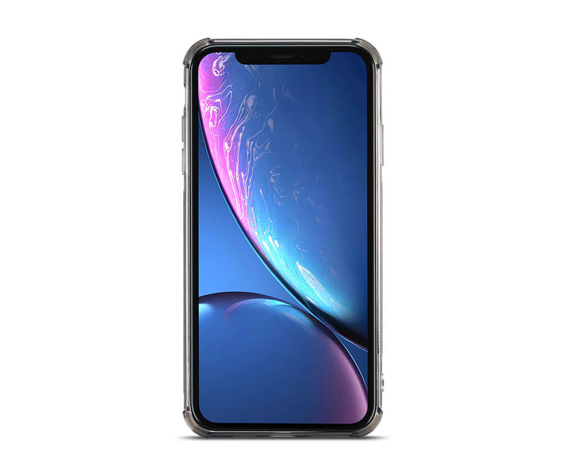 SLIM & PROTECTIVE TRANSPARENT W/RAISED EDGES & CARD SLOT for iPhone XR