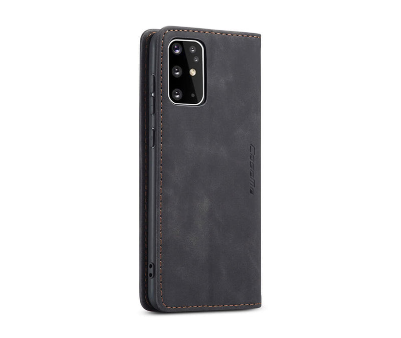 SLIM SUEDE LEATHER WALLET CASE for Galaxy A21s
