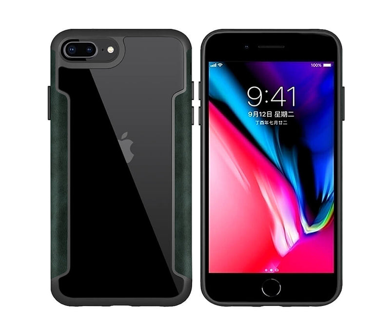 SHOCKPROOF ARMOUR DEFENCE W/LEATHER SIDES for iPhone 7-8-Plus