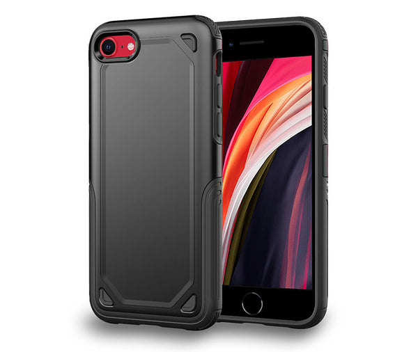 HYBRID ARMOUR DEFENCE CASE for iPhone 7, 8 & SE#Colour_Black