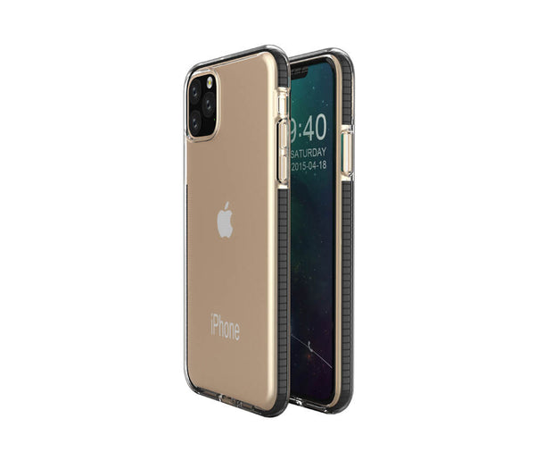 TRANSPARENT PROTECTIVE TPU CASE for iPhone 11#Colour_Black