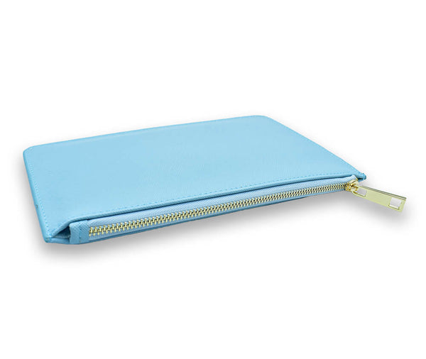 GENUINE SAFFIANO CLUTCH BAG#Colour_Light Blue
