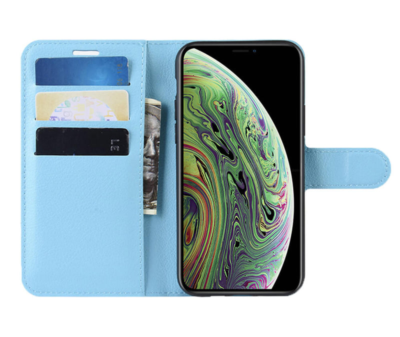 LITCHI LEATHER WALLET CASE for iPhone 11 Pro