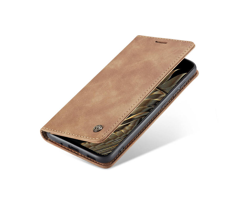 SLIM SUEDE LEATHER WALLET CASE for Galaxy S20