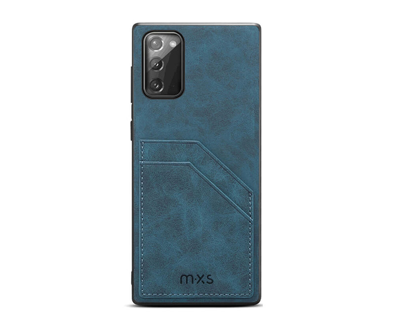 MXS PROTECTIVE & STYLISH LEATHER BACK 2 CARD SLOT CASE for Galaxy Note 20