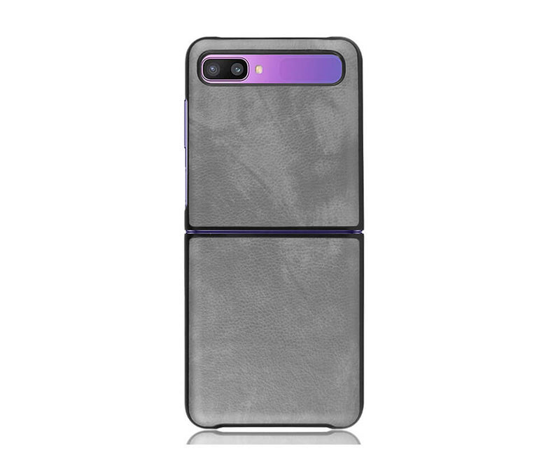 Matt Finish Leather Protective Case for Galaxy Z Flip