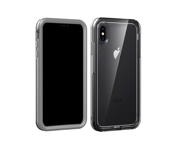 Military Defence Case with Clear Back & Coloured Border for iPhone X & XS#Colour_Black