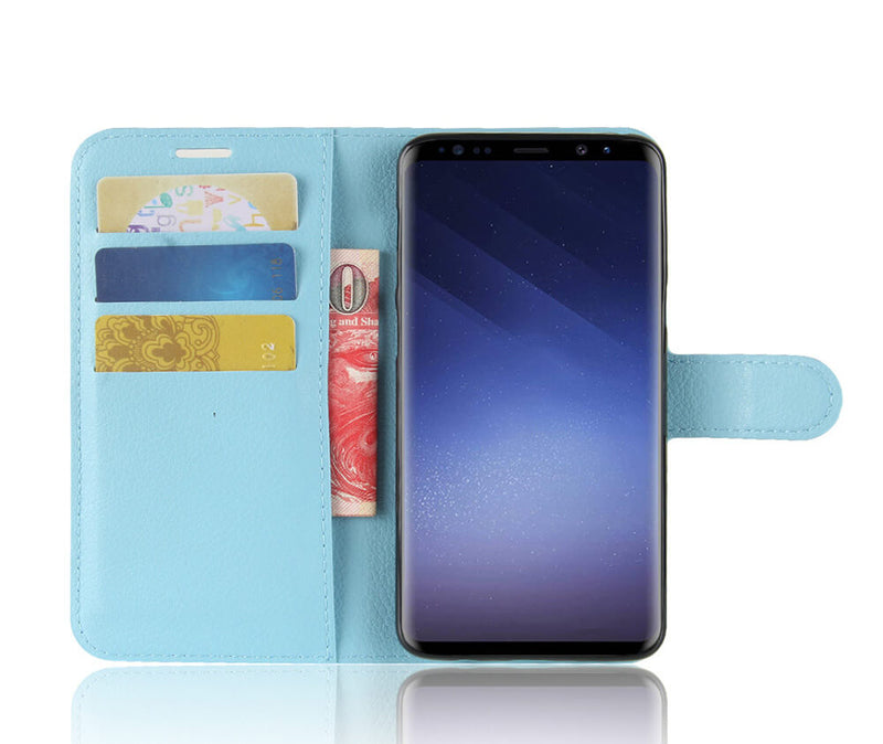 LITCHI LEATHER WALLET CASE for Galaxy for S9