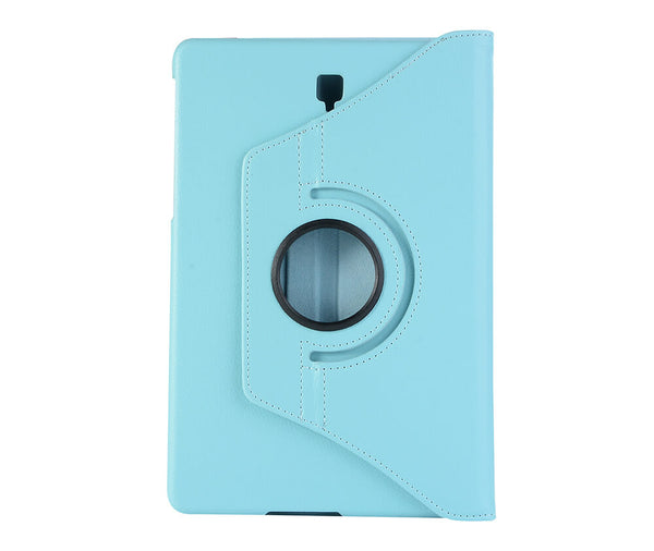 LITCHI LEATHER 360 ROTATIONAL CASE for Galaxy Tab A 8 2017#Colour_Light Blue
