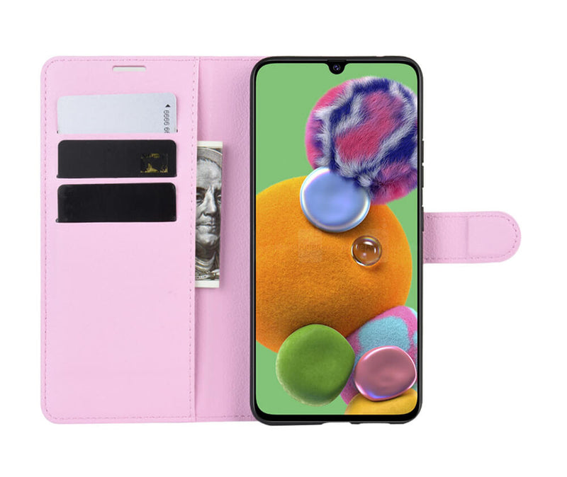 LITCHI LEATHER WALLET CASE for Galaxy A90 5G