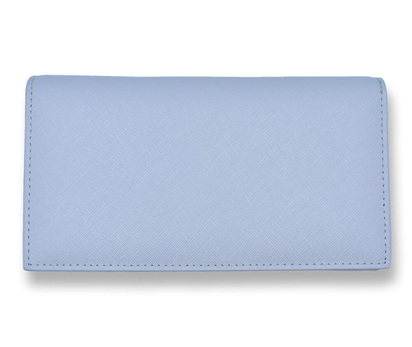 GENUINE SAFFIANO LEATHER FOLD WALLET#Colour_Lilac