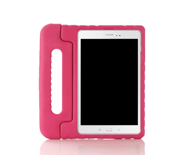 KIDS HEAVY DUTY RUGGED PROTECTION CASE W/ HANDLE for Galaxy Tab A 8.0 2017#Colour_Pink