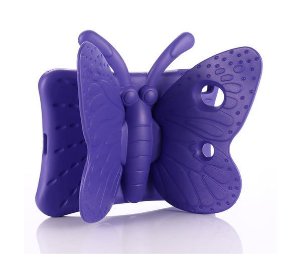 KIDS BUTTERFLY SHOCKPROOF TPU CASE for iPad 2, 3 & 4#Colour_Purple