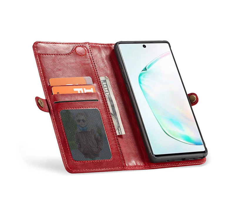 2IN1 DETACHABLE LEATHER WALLET for Galaxy Note 10+