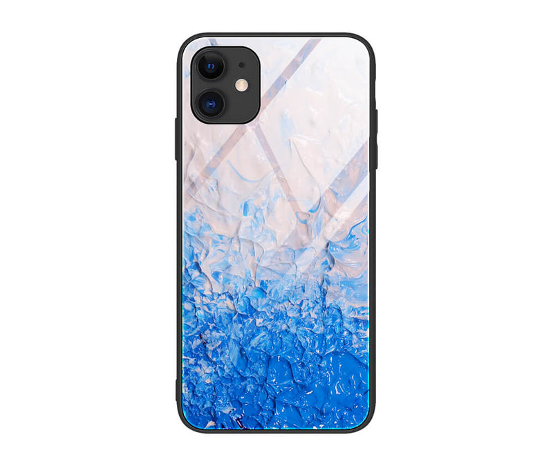 Anti-Shock Vibrant Tempered Glass Back Cover