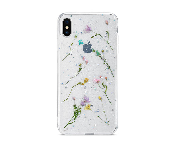 DRIED PETAL FLOWER TRANSPARENT CASE for iPhone X and iPhone XS_1