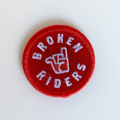 broken riders red logo patch