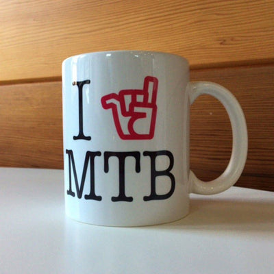 Broken Riders I Love MTB mug