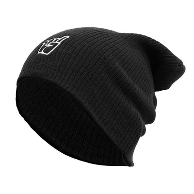Broken Riders black slouch beanie