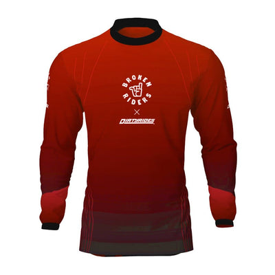 Broken Riders red Contour MTB jersey