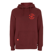 Men's Broken Riders logo claret organic cotton pullover hoodie