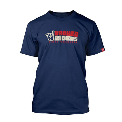 Broken Riders Since Whenever t-shirt in navy organic cotton