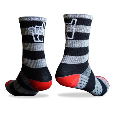 Broken Riders Stripe merino socks