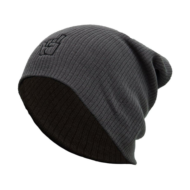 Broken Riders logo smoke grey slouch beanie