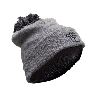 broken riders heather grey bobble hat