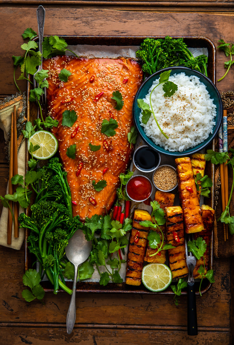 Recipe: Traeger Miso Salmon with Grilled Pineapple