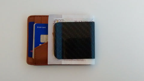 RC Fibers D15 Wallet Brown with pound notes (GBP)