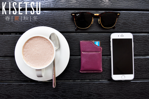 Kisetsu Naru Minimalist Leather RFID Wallet
