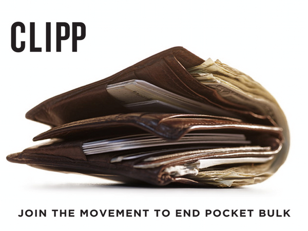 Clipp Wallet end pocket bulk