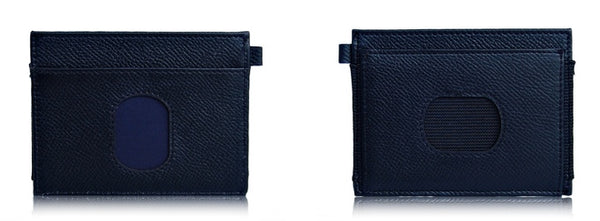 Urban Slim Black Wallet Front and Back