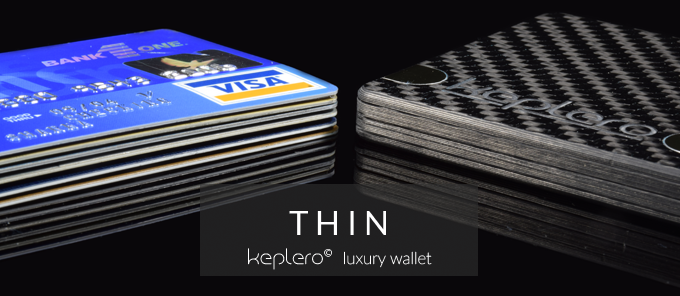 Keplero Luxury Carbon Fiber Wallet
