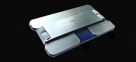 Solid Titanium Tribe UltraLight Wallet