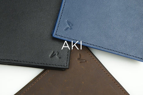 Aki Leather Bifold Wallet by Kisetsu