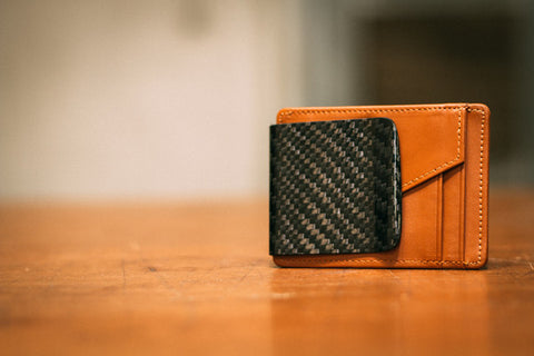 RC Fibers D15 Wallet brown with twill