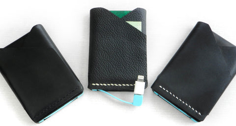 PowerFold Battery Charger Wallet Leather stitch options