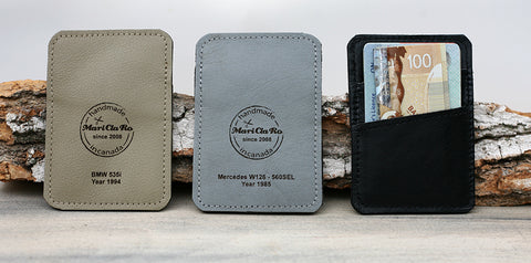 Detroit Stash Vintage Car Leather Embossed Wallet