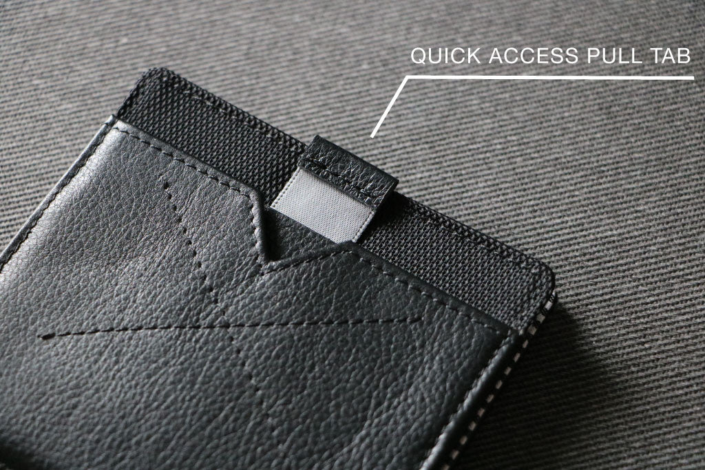 Quick Access Pull Tab on FLIP Wallet